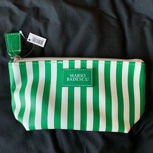 Mario Badescu Green & White Striped Mini Bag - New